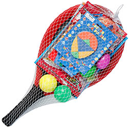 Paddle Ball Game Easter Basket With Assorted Toys And
