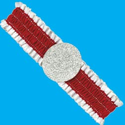 DEALERS ARMBAND - RED & WHITE