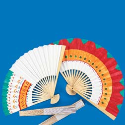 DECORATE-YOUR-OWN FAN 10-1/4""