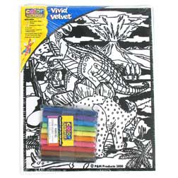 "DINOSAUR VELVET ART SET 8""X10"""