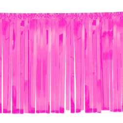 "FLOAT DRAPE - VINYL FRINGED 15""Hx24'L PINK"