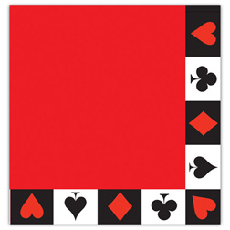 CARD NIGHT <br>LUNCH NAPKINS 12-7/8""