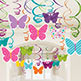 BUTTERFLY SWIRL DECORATIONS (30 PACK)