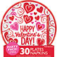 PARTY PACK - VALENTINE'S DAY PLATES & NAPKINS (60)