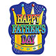 CUTOUT - HAPPY FATHER'S DAY 17""