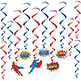 "SUPERHERO HANGING WHIRLS 17"" - 31-1/2"""