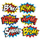 SUPERHERO WORD CUTOUTS 24""