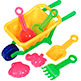MINI WHEEL BARROW SAND TOY SET 9-1/2""