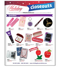 HOLIDAY SURPRISE STORE CLOSEOUT BROCHURE