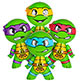 INFLATE TEENAGE MUTANT NINJA TURTLES 24""