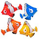 INFLATE CLOWN FISH 24""