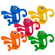 NEON PLASTIC MONKEYS 1-3/4""