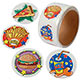 STICKERS - FAST FOOD 1-1/2""