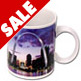 ST. LOUIS SOUVENIR CERAMIC MUG - ARCH DOWNTOWN NIGHT 10 OZ