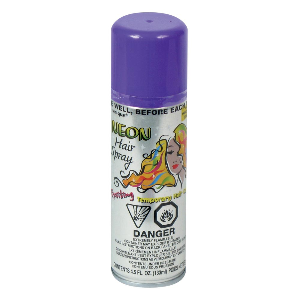 COLORED HAIR SPRAY - PURPLE from American Carnival Mart
